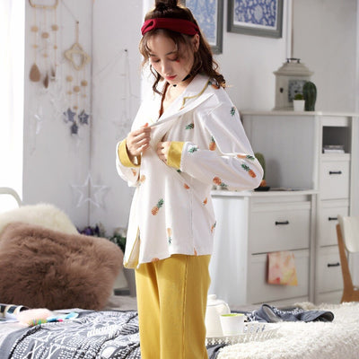 breastfeeding pajamas breast feeding nightwear maternity nursing pajama sets maternity nursing sleepwear pregnancy pyjama winter