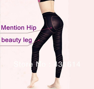 PRAYGER Women Slimming Massage Full Legs Shapers Seamless Thigh Slimmer Control Panties Lift Buttock Long Legging
