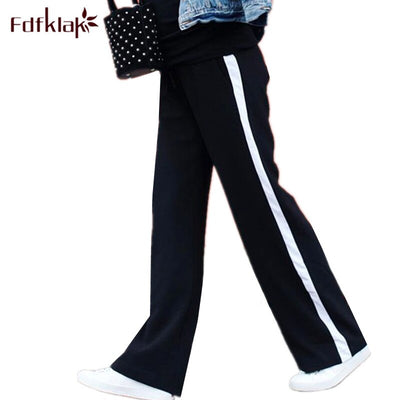 Fdfklak 2018 Spring Summer Maternity Pants Casual Loose Straight Pant Pregnancy Clothes Women Trousers Long Pregnant Pants