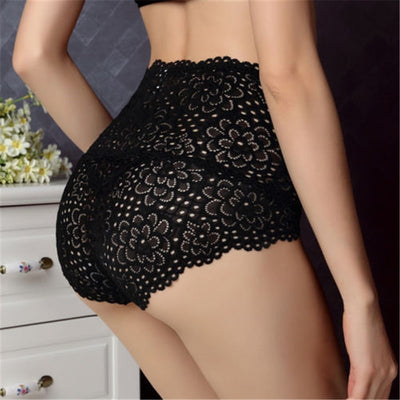 Sexy Lace Panties Women Thongs Lingerie Knickers High Waist Lace Briefs Underwear For Women