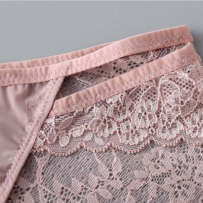BEFORW Women Panties Ultra-thin Hollow Underwear Women Low Rise Transparent Lace Sexy Panties Breathable Lingerie Panties Women