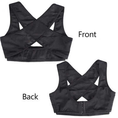 Adjustable Women Breast & Back Support Belt Shoulder Brace Chest Correction Posture Corrector Bra Corset Shapers Scarves Wraps