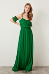 Trendyol Advanced Arm TPRSS19FZ0049 Green Evening Dress