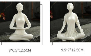 Yoga Girl Tea Pet Ornaments