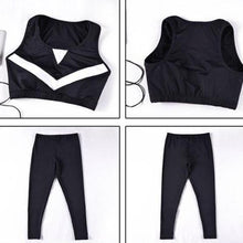 Load image into Gallery viewer, 4 Pieces Patchwork Yoga Outdoor Sportswear