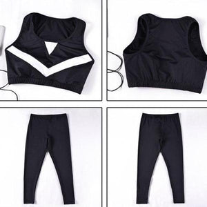 4 Pieces Patchwork Yoga Outdoor Sportswear