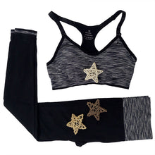 Load image into Gallery viewer, Padded Sport Top + Elastic Leggings Set
