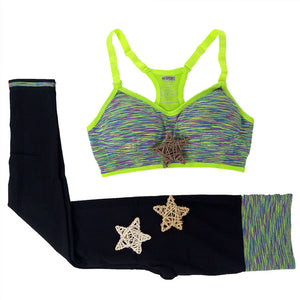 Padded Sport Top + Elastic Leggings Set