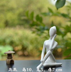 Desktop Simple Home Yoga Hall Decorative Ceramic Crafts Yoga Decoration Gifts Zen Decoration Wedding Accessories