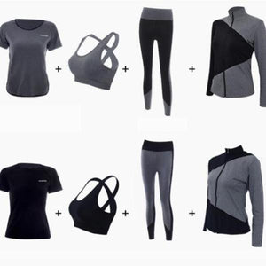 4 in 1 Breathable Patchwork Sportswear