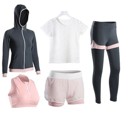 5 Pieces Yoga Set with Hoodie