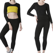 Load image into Gallery viewer, Fat Burning Sweat Shirt & Pants Sport Suits