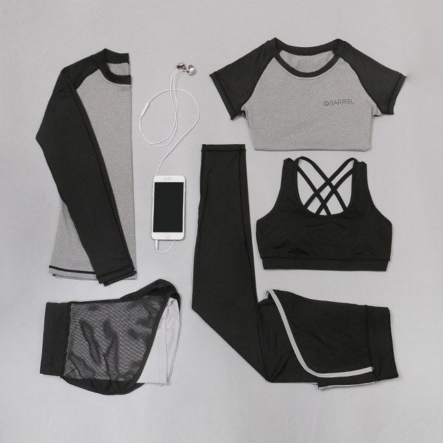 5 Piece Set Yoga and Fitness Wear