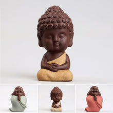 Load image into Gallery viewer, Small Buddha & Monk Ceramic Home Decor