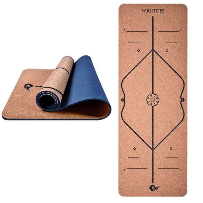 Cork Rubber Body Line Yoga Mat
