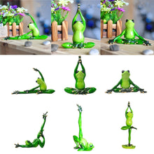 Load image into Gallery viewer, Creative 3D Yoga Frog Home Decor