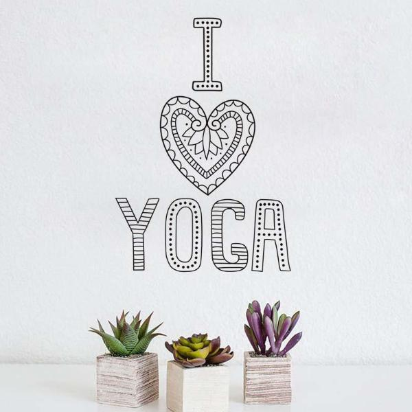 I Love Yoga Wall Stickers