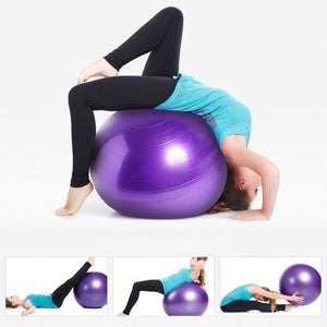 Fitness Pilates Yoga Ball Utility Weight Training Flexibility Balance Sports Thicken PVC Anti-slip for Fitness With Pump Plug