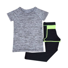 Load image into Gallery viewer, 2 Pieces Set Yoga Shirt+Capris