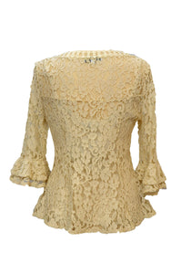 Passioni Cream Lace Top