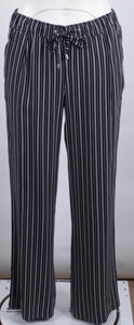 Barbara Lebek Navy/White Stripe Trousers Style 56420002