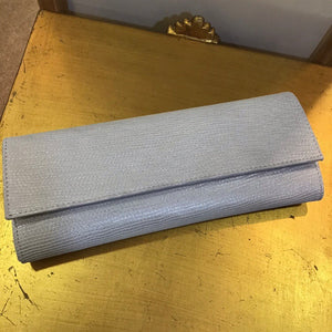 Lisa Kay Mary Silver Lizard Clutch Bag