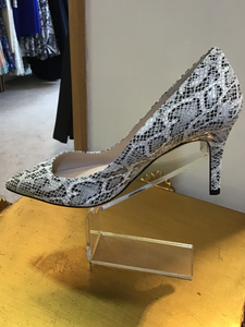 Lisa Kay Marilyn Black & White Python Court Shoes