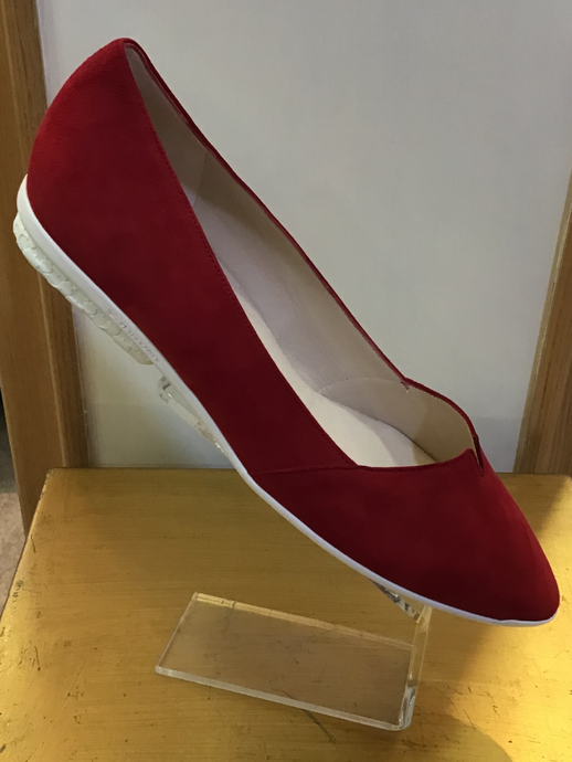 Peter Kaiser Virgie Red Suede Flat Shoes