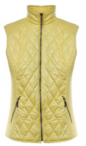 Barbara Lebek Yellow Quilted Gilet Style