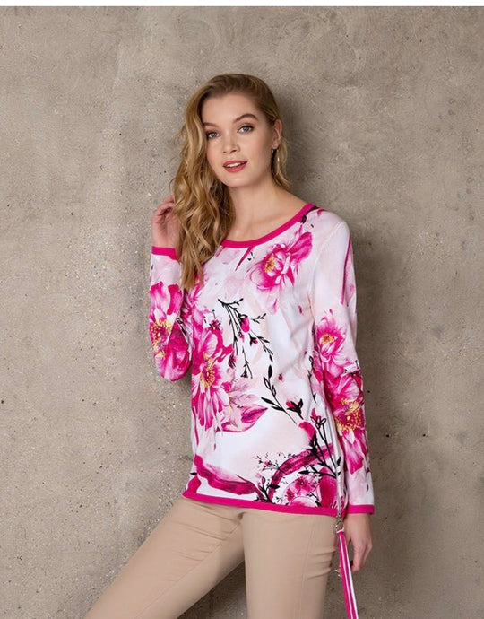 Passioni pink floral jumper 3140