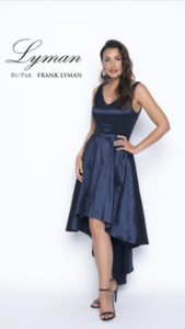 Frank Lyman Navy taffeta Dress 198154