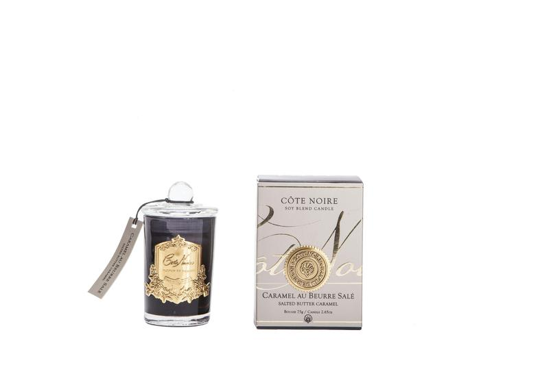 Cote Noire - SALTED BUTTER CARAMEL GOLD BADGE CANDLES 75g - GML07502