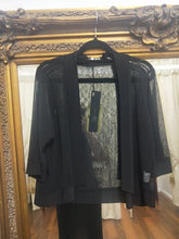 Load image into Gallery viewer, CC - Crop Cardi Black Mesh - HCCJ22669