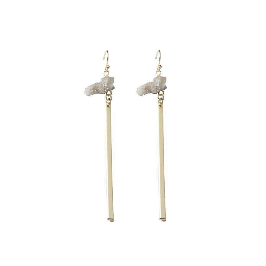 GXG Collective - ALISON NATURAL QUARTZ EARRINGS