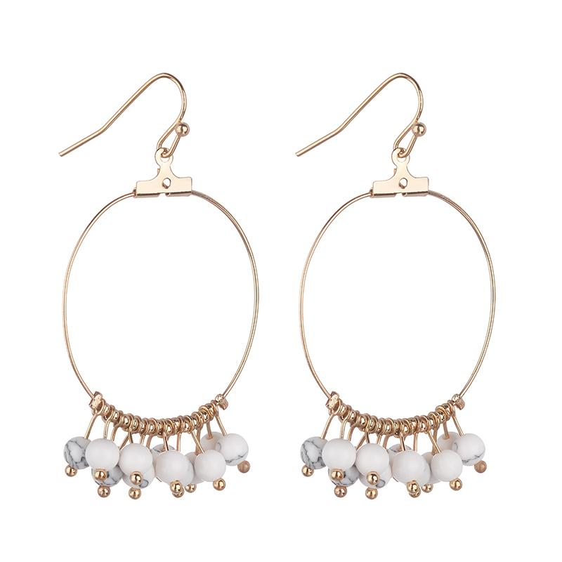 GxG Collective - MARNIE SEMI-PRECIOUS EARRINGS WHITE TURQUOISE