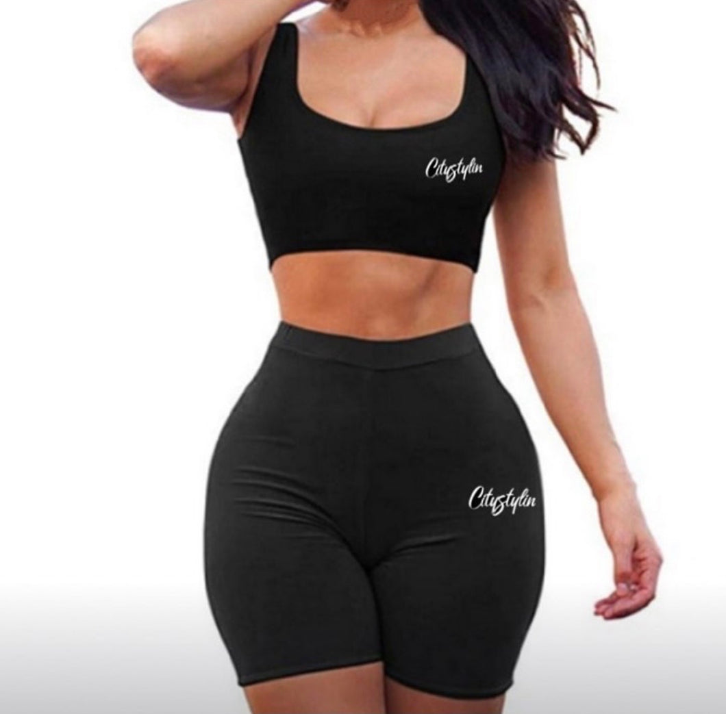 Citystylin crop top gym set