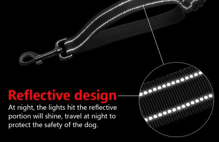 Dog Bungee Leash -Reflective with Traffic Handle