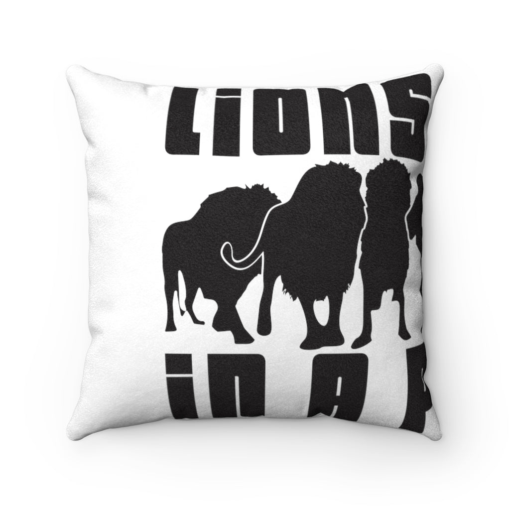 Lions Roll In A Pack Faux Suede Square Pillow Case