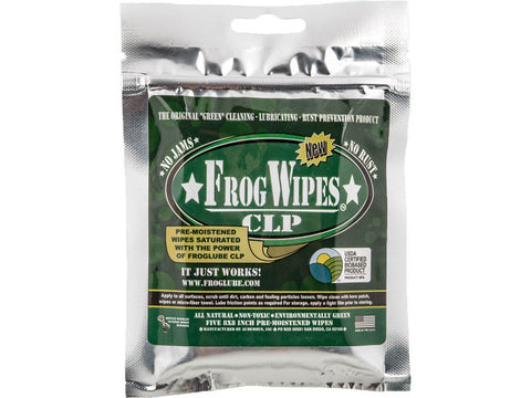 FrogLube CLP Wipes Cleaner/Lubricant 5 Wipes