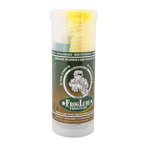 FrogLube Frog Tube Kit CLP Bio-Based Cleaner, Lubricant, and Preservative 4 oz Paste, 1.5 oz Squeeze Gel, FrogLube Solvent 1 oz Liquid, Brush and Towel