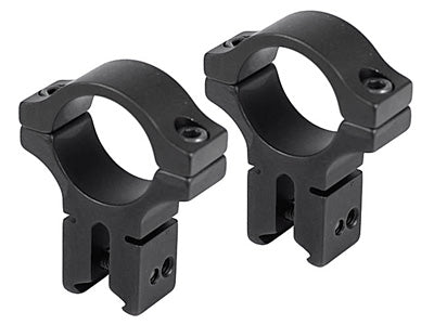 "BKL Tech 1"" Rings, 3/8"" or 11mm Dovetail, High Scope Mounts, Matte Black - BKL-257H MB"