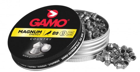 Gamo Magnum Energy  .22 Cal, 15.42 Grains, Pointed, 250ct - Pack of 3 Tins
