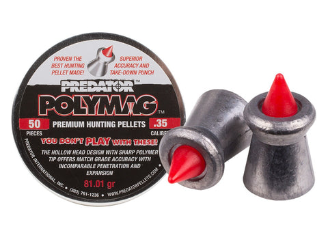 Predator Polymag, .35 Cal, 81.01 Grains, Pointed, 50ct