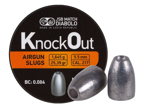 JSB KnockOut Slugs .217 Cal, 25.39gr, Hollowpoint, 200ct