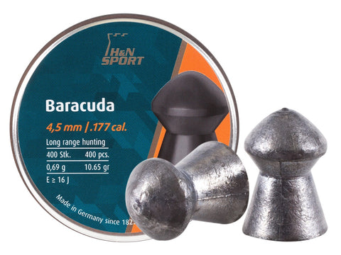 H&N Baracuda .177 Cal, 10.65 Grains, Round Nose, 400ct