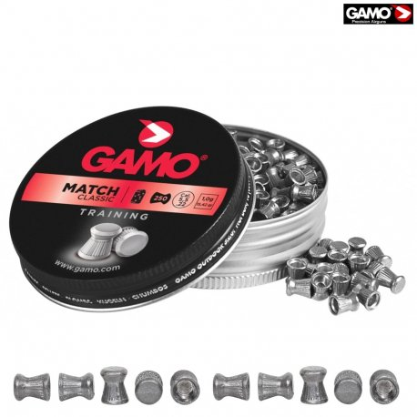 Gamo Match .22 Cal, 15.43 Grains, Wadcutter, 250ct - Pack of 3 Tins