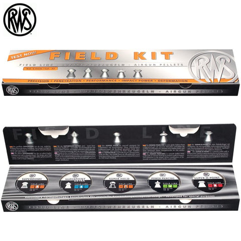 RWS Pellets Field Kit, Sampler Pack .22 Cal