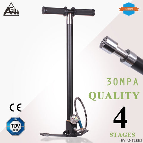 PCP Hand Operated Air Pump High-Pressure 30mpa/4500psi 4 Stage