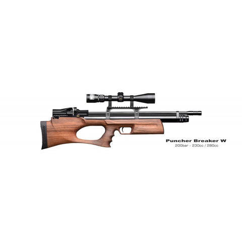 Kral Puncher Breaker PCP Air Rifle, Walnut