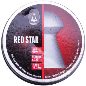 BSA Red Star .22 Cal,  Grains, Pointed, 500ct